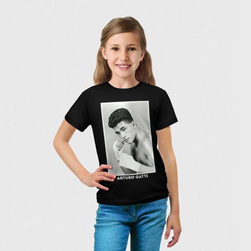 Детская футболка 3D  Фото 03, Артуро Гатти чб