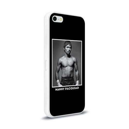 Чехол для Apple iPhone 5/5S силиконовый глянцевый  Фото 02, Мэнни Пакьяо чб