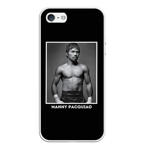 Чехол силиконовый для Телефон Apple iPhone 5/5S Мэнни Пакьяо чб от Всемайки