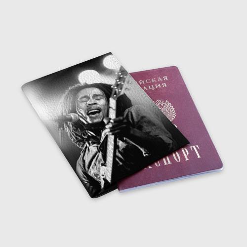 Обложка для паспорта матовая кожа  Фото 03, Боб Марли 2