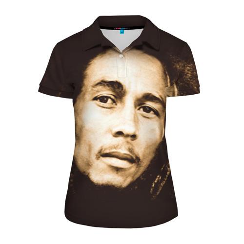 Женская рубашка поло 3D Боб Марли 3