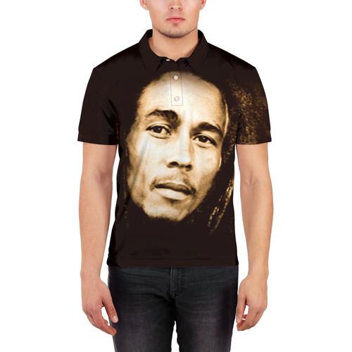 Мужская рубашка поло 3D  Фото 03, Боб Марли 3