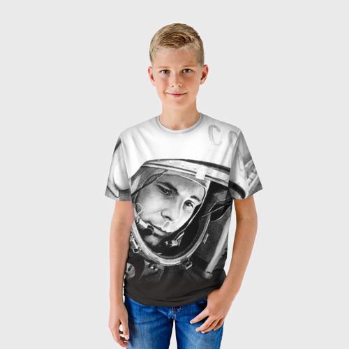 Детская футболка 3D Гагарин 1