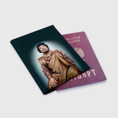 Обложка для паспорта матовая кожа  Фото 03, Каддафи 1
