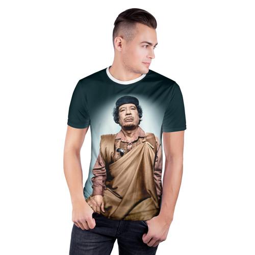 Мужская футболка 3D спортивная  Фото 03, Каддафи 1