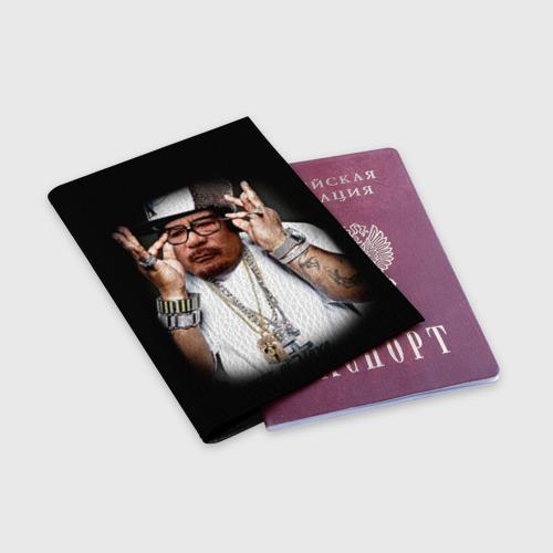 Обложка для паспорта матовая кожа  Фото 03, Каддафи 2