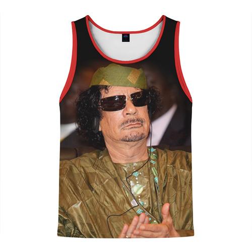 Мужская майка 3D Каддафи 3