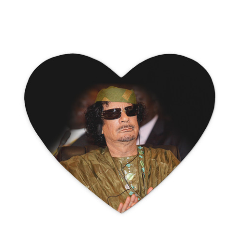 Коврик сердце  Фото 01, Каддафи 3