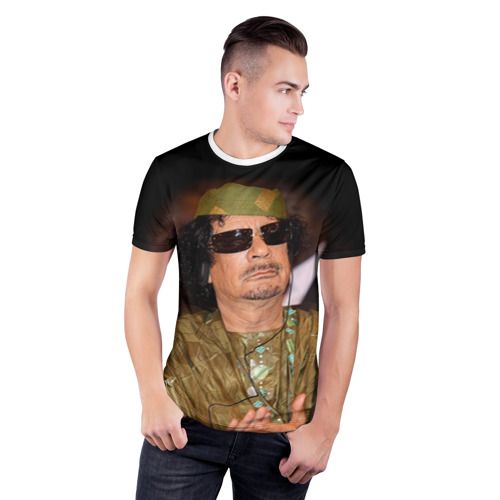 Мужская футболка 3D спортивная  Фото 03, Каддафи 3