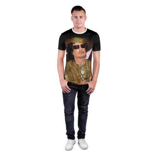 Мужская футболка 3D спортивная  Фото 04, Каддафи 3