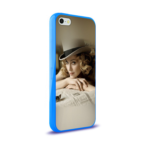 Чехол для Apple iPhone 5/5S силиконовый глянцевый  Фото 02, Мадонна 1