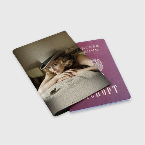 Обложка для паспорта матовая кожа  Фото 03, Мадонна 1