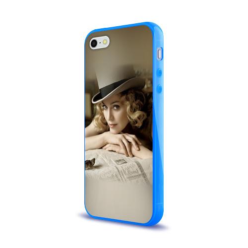 Чехол для Apple iPhone 5/5S силиконовый глянцевый  Фото 03, Мадонна 1