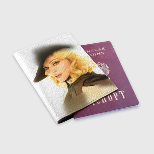 Обложка для паспорта матовая кожа  Фото 03, Мадонна 2