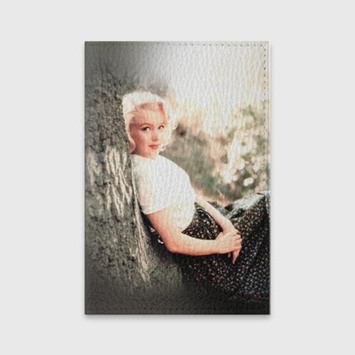 Обложка для паспорта матовая кожа Мерлин Монро 1 Фото 01