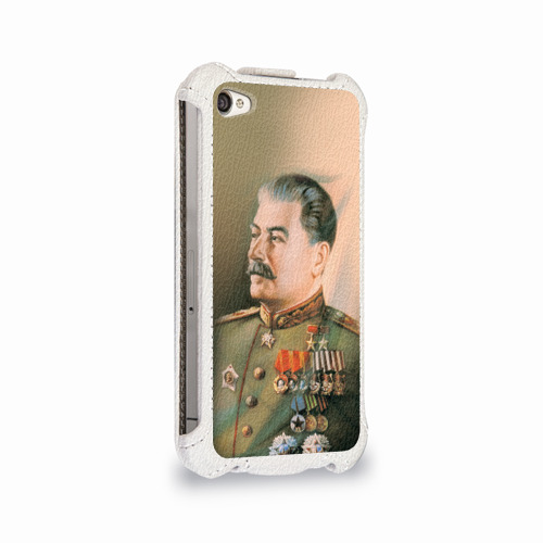 Чехол для Apple iPhone 4/4S flip  Фото 02, Сталин 1