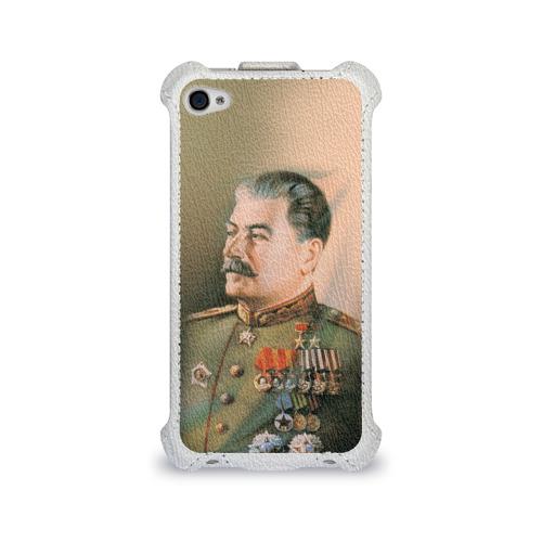 Чехол для Apple iPhone 4/4S flip  Фото 01, Сталин 1