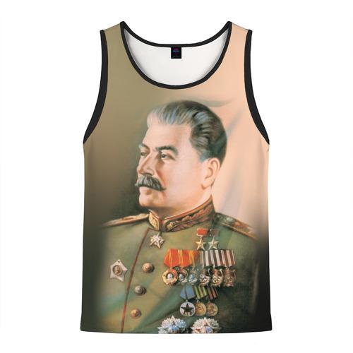 Мужская майка 3D Сталин 1