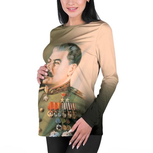 Женский лонгслив 3D для беременных  Фото 01, Сталин 1
