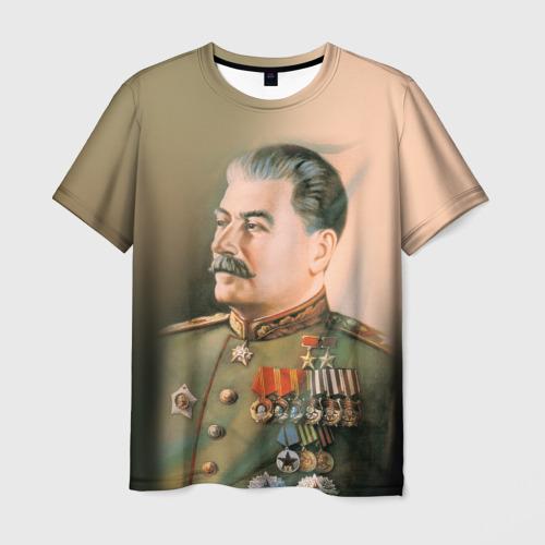 Мужская футболка 3D Сталин 1