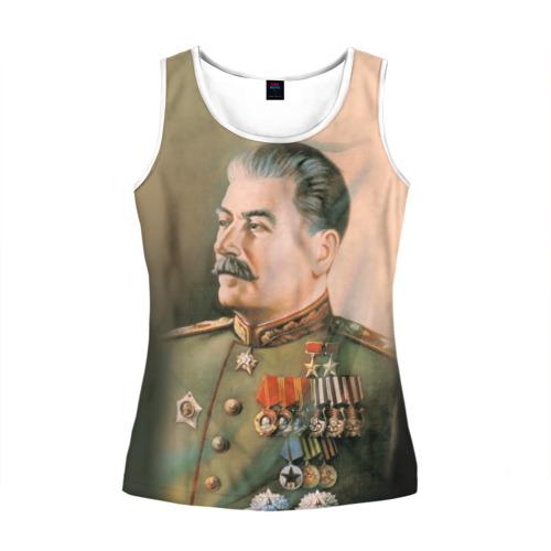 Женская майка 3D Сталин 1
