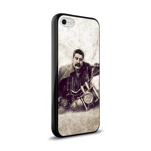 Чехол для Apple iPhone 5/5S силиконовый глянцевый Сталин 2 Фото 01