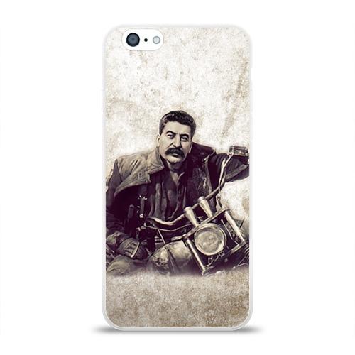 Чехол для Apple iPhone 6 силиконовый глянцевый Сталин 2 Фото 01