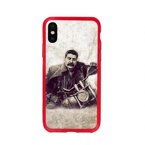 Чехол для Apple iPhone X силиконовый глянцевый Сталин 2 Фото 01