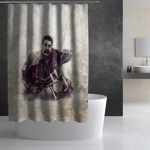 Штора 3D для ванной Сталин 2 Фото 01