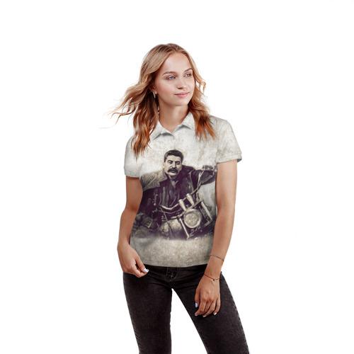 Женская рубашка поло 3D Сталин 2 Фото 01
