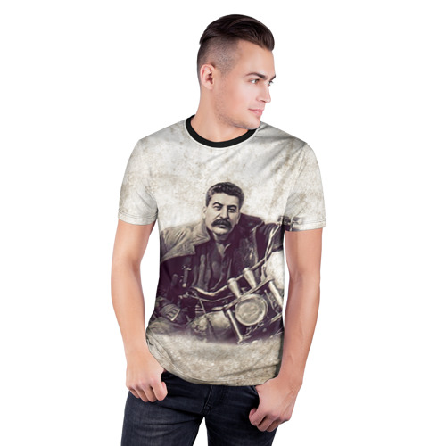 Мужская футболка 3D спортивная Сталин 2 Фото 01