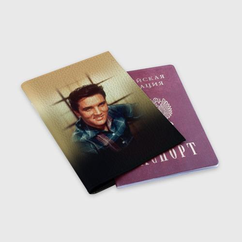 Обложка для паспорта матовая кожа  Фото 03, Элвис 1