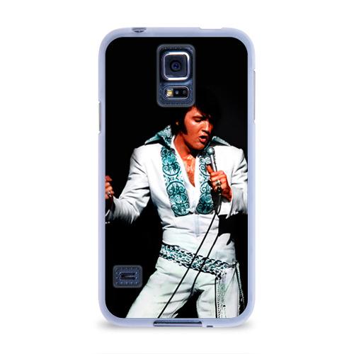 Чехол для Samsung Galaxy S5 силиконовый  Фото 01, Элвис 3
