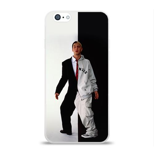Чехол для Apple iPhone 6 силиконовый глянцевый  Фото 01, Эминем 2