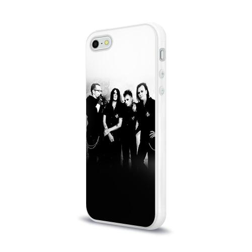Чехол для Apple iPhone 5/5S силиконовый глянцевый  Фото 03, Агата Кристи 1