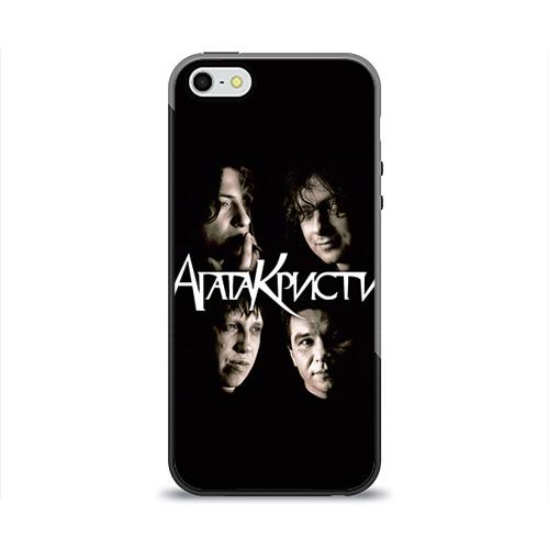 Чехол для Apple iPhone 5/5S силиконовый глянцевый Агата Кристи 2 от Всемайки