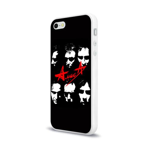 Чехол для Apple iPhone 5/5S силиконовый глянцевый  Фото 03, Алиса 2
