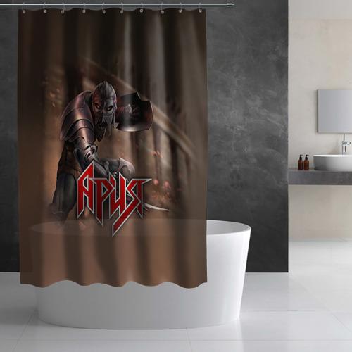 Штора 3D для ванной Ария Фото 01