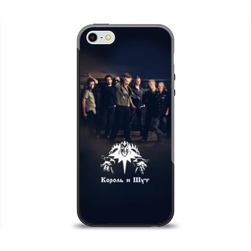 Чехол для Apple iPhone 5/5S силиконовый глянцевый Король и Шут 1 от Всемайки