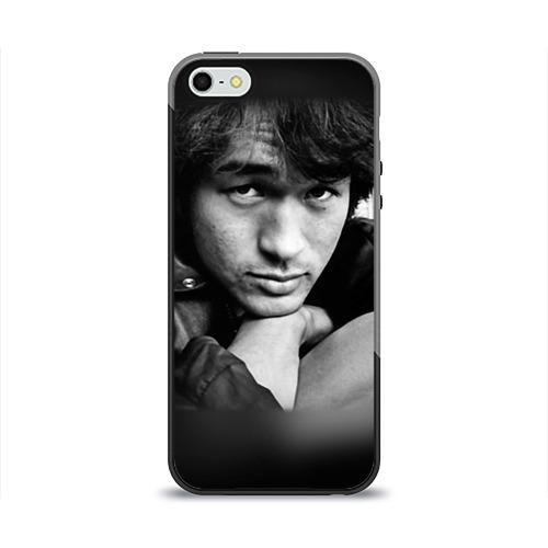 Чехол для Apple iPhone 5/5S силиконовый глянцевый Цой 1 от Всемайки