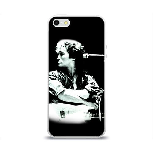 Чехол для Apple iPhone 5/5S силиконовый глянцевый  Фото 01, Цой 2