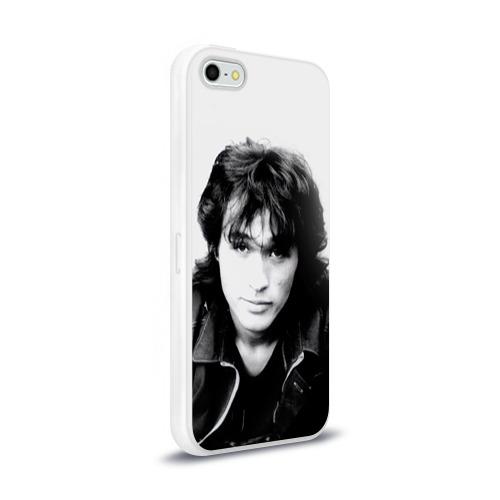 Чехол для Apple iPhone 5/5S силиконовый глянцевый  Фото 02, Цой 4