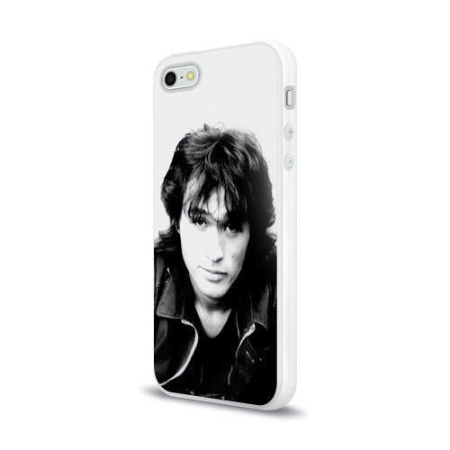 Чехол для Apple iPhone 5/5S силиконовый глянцевый  Фото 03, Цой 4