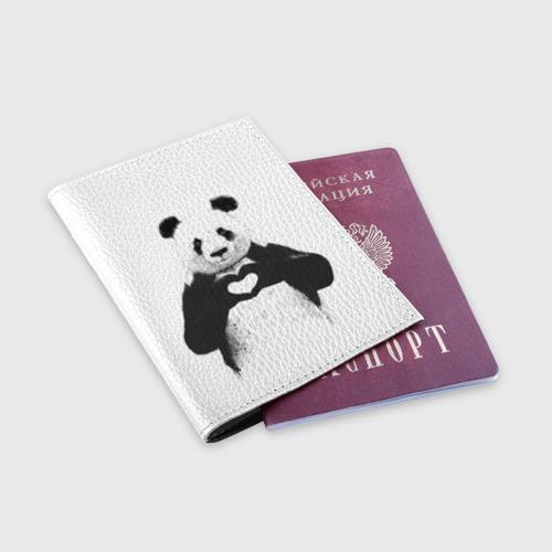 Обложка для паспорта матовая кожа  Фото 03, Панда Love
