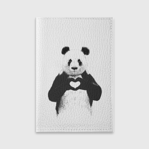 Обложка для паспорта матовая кожа  Фото 01, Панда Love