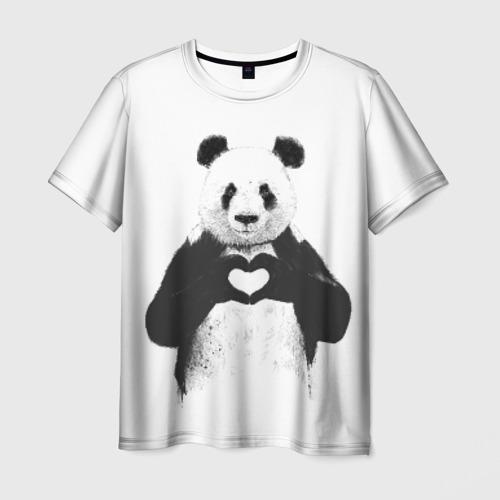 Мужская футболка 3D  Фото 01, Панда Love