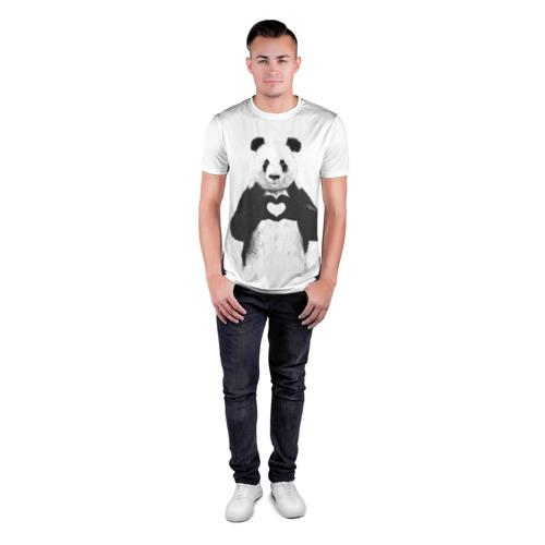 Мужская футболка 3D спортивная  Фото 04, Панда Love
