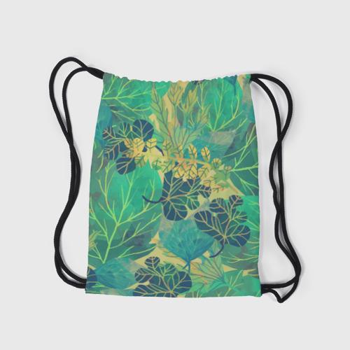 Рюкзак-мешок 3D  Фото 05, Узор из листьев