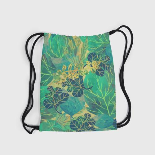 Рюкзак-мешок 3D  Фото 04, Узор из листьев