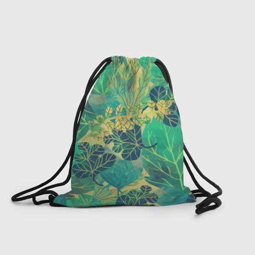 Рюкзак-мешок 3D  Фото 01, Узор из листьев
